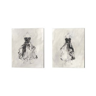 Ethan Harper 'Black Evening Gown' Canvas Art (Set of 2)