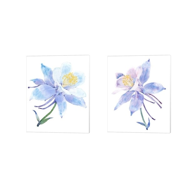 Timothy O'Toole 'Columbine Bloom' Canvas Art (Set of 2)