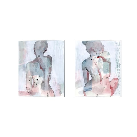 Grace Popp 'Modern Madonna' Canvas Art (Set of 2) - 12 x 15