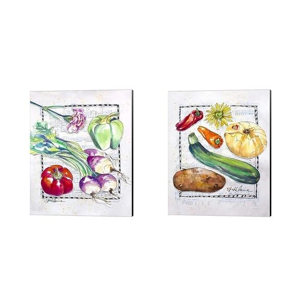 Elizabeth St. Hilaire 'Kitchen Veggies' Canvas Art (Set of 2)