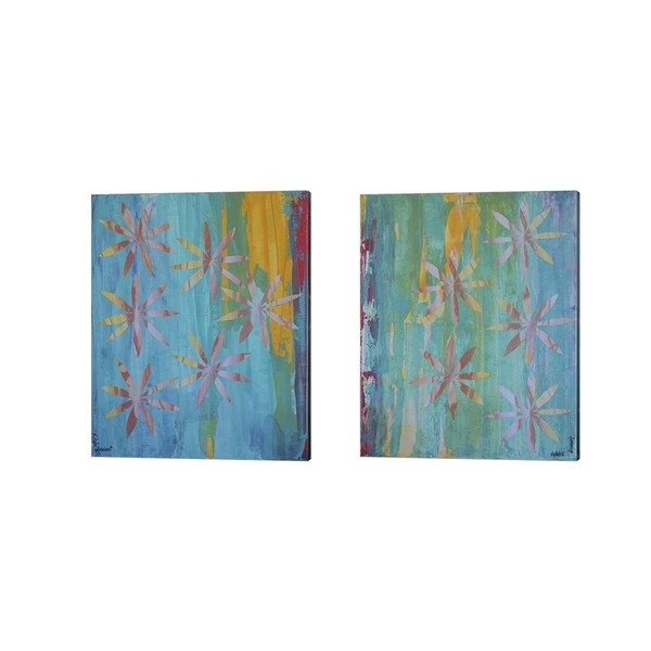 Natalie Avondet 'Stained Glass Blooms' Canvas Art (Set of 2)
