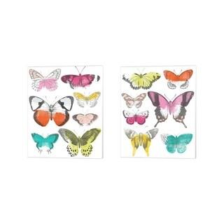 June Erica Vess 'Chromatic Butterflies' Canvas Art (Set of 2)