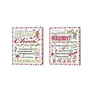 Anne Tavoletti 'Baked with Love A' Canvas Art (Set of 2)