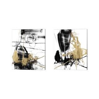 Jennifer Goldberger 'Glam & Black' Canvas Art (Set of 2)