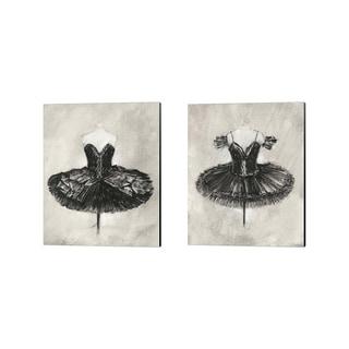 Ethan Harper 'Black Ballet Dress' Canvas Art (Set of 2)