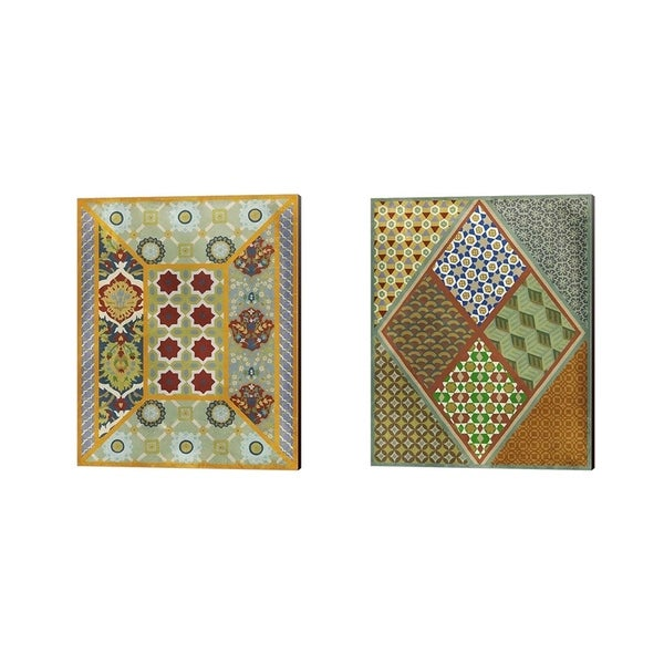 Chariklia Zarris 'Wallpaper Collage ' Canvas Art (Set of 2)