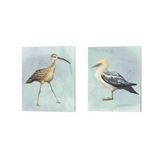 Grace Popp 'Watercolor Beach Bird A' Canvas Art (Set of 2)