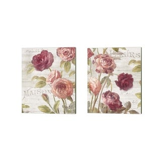 Danhui Nai 'French Roses' Canvas Art (Set of 2)