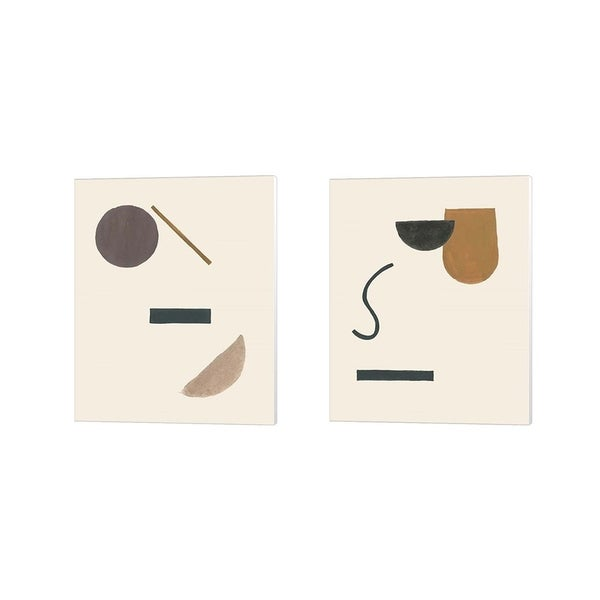 Melissa Wang 'Intraconnected' Canvas Art (Set of 2)