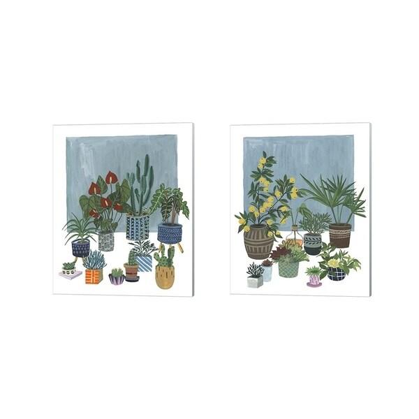 Melissa Wang 'A Portrait of Plants' Canvas Art (Set of 2)