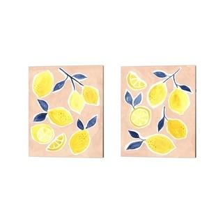 Victoria Borges 'Lemon Love' Canvas Art (Set of 2)