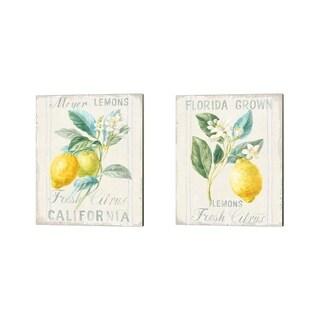 Danhui Nai 'Floursack Lemon' Canvas Art (Set of 2)