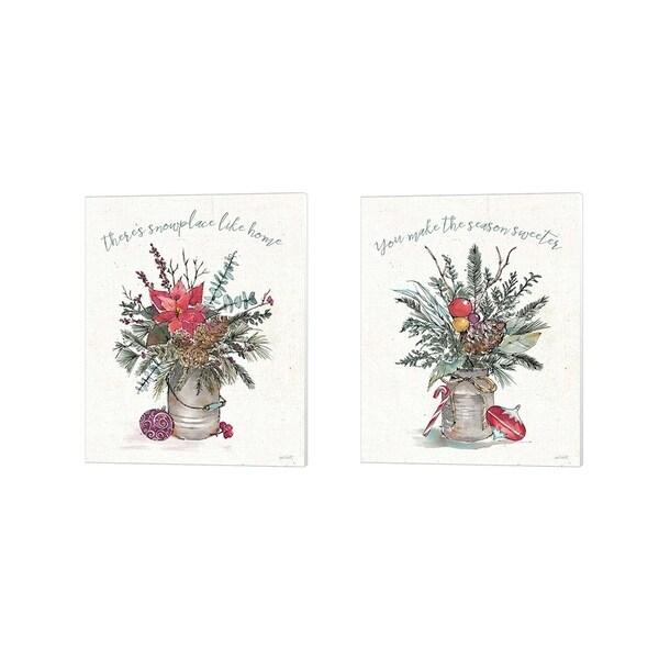 Anne Tavoletti 'Seasonal Charm' Canvas Art (Set of 2)