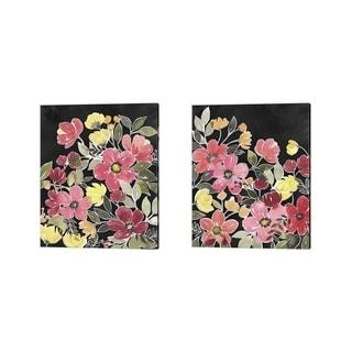 Grace Popp 'Night Flora' Canvas Art (Set of 2)