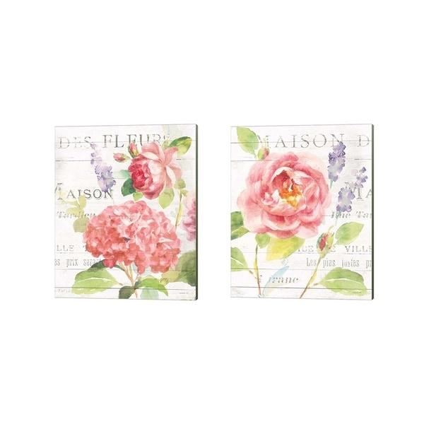 Danhui Nai 'Maison Des Fleurs B' Canvas Art (Set of 2)