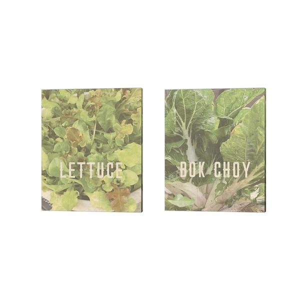 Tammy Apple 'Lettuce & Bok Choy' Canvas Art (Set of 2)
