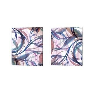 Sophia Rodionov 'Simple Colors' Canvas Art (Set of 2)