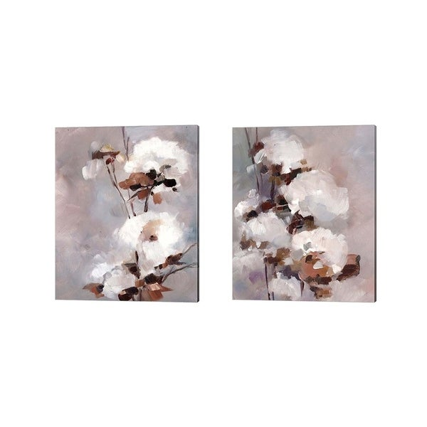 Sophia Rodionov 'White Floral' Canvas Art (Set of 2)