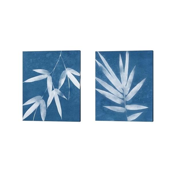 Porch & Den Linda Woods 'Spa Bamboo' Canvas Art (Set of 2)
