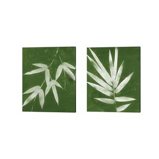 Porch & Den Linda Woods 'Green Spa Bamboo' Canvas Art (Set of 2)
