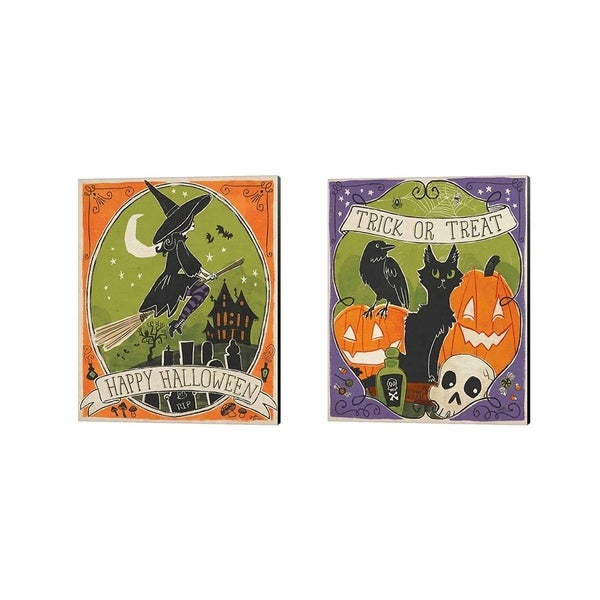 Janelle Penner 'Stay Creepy' Canvas Art (Set of 2)