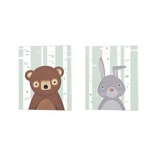 Martin Wickstrom 'Bear & Bunny' Canvas Art (Set of 2)