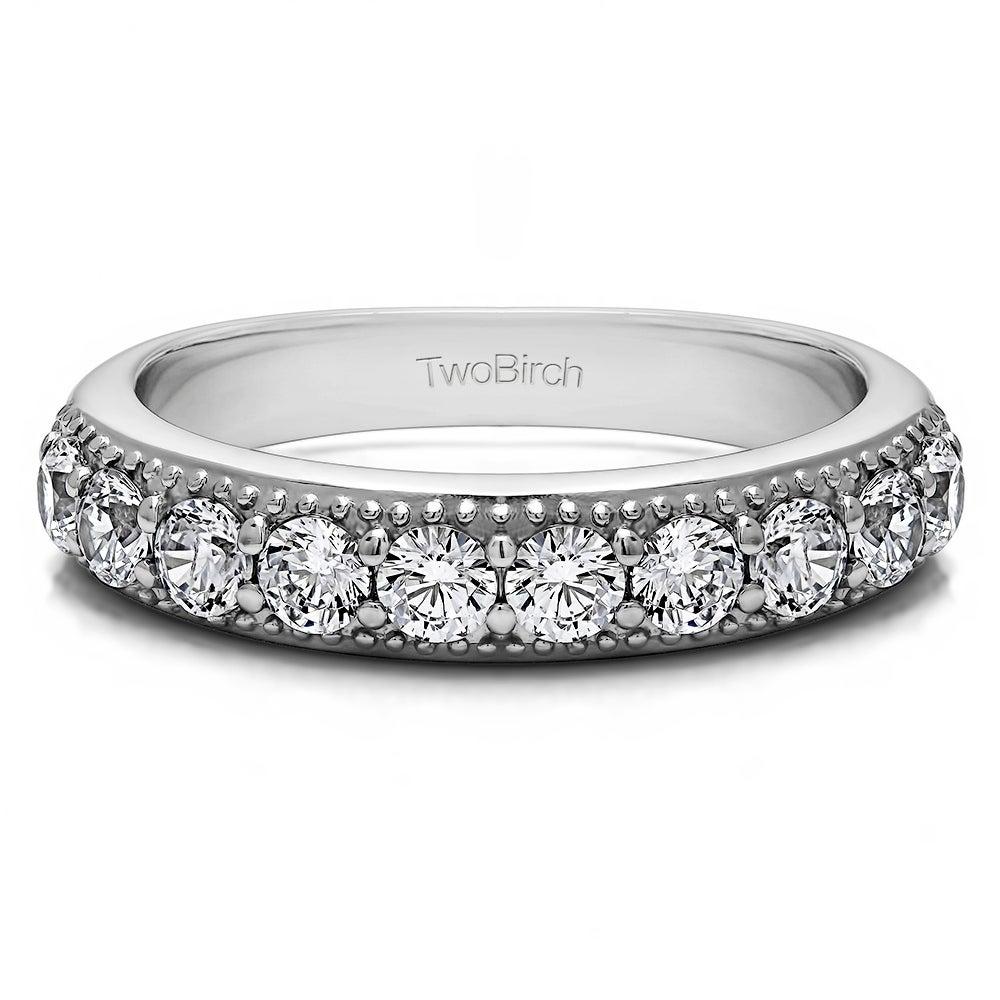 Sterling Silver 1//8 CT Black White Diamond Heart Crossover Journey Ring I2;I3
