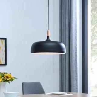 Strick & Bolton Modern Black Pendant Lamp