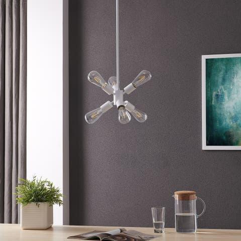 Carbon Loft Ginsberg 6-light Pendant Light, White
