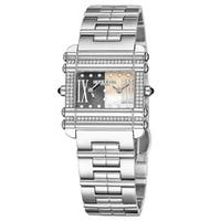Charriol Women's CCHDTD1.10.HDT03 Actor Goldtone Mother of Pearl/Grey Dial Stainless Steel Diamond Swiss Made Quartz Watch