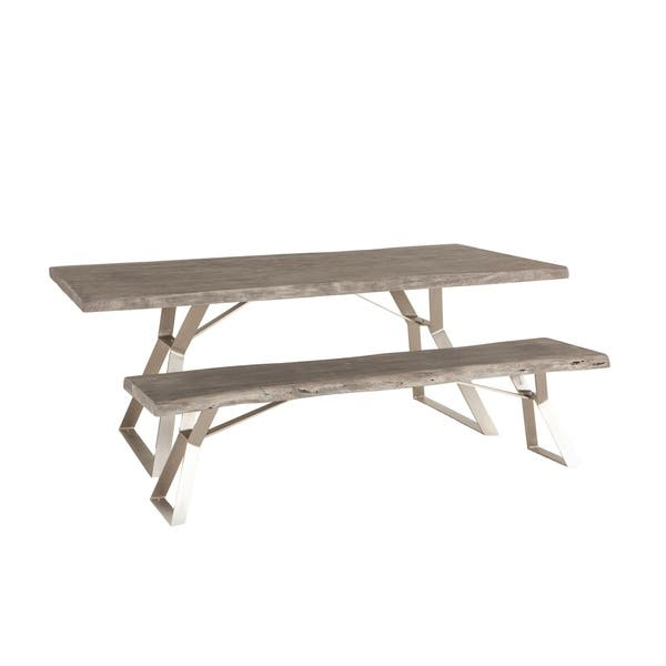 Amazing Shop Nottingham 72 Inch Weathered Gray Acacia Wood Dining Ocoug Best Dining Table And Chair Ideas Images Ocougorg