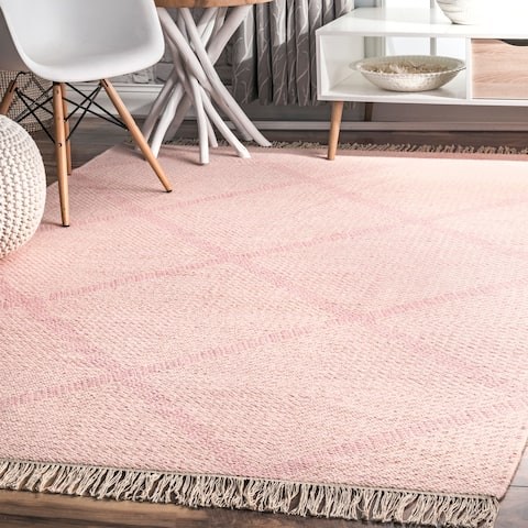 Carson Carrington Habbalsbo Flatweave Wool Diamond Trellis Area Rug