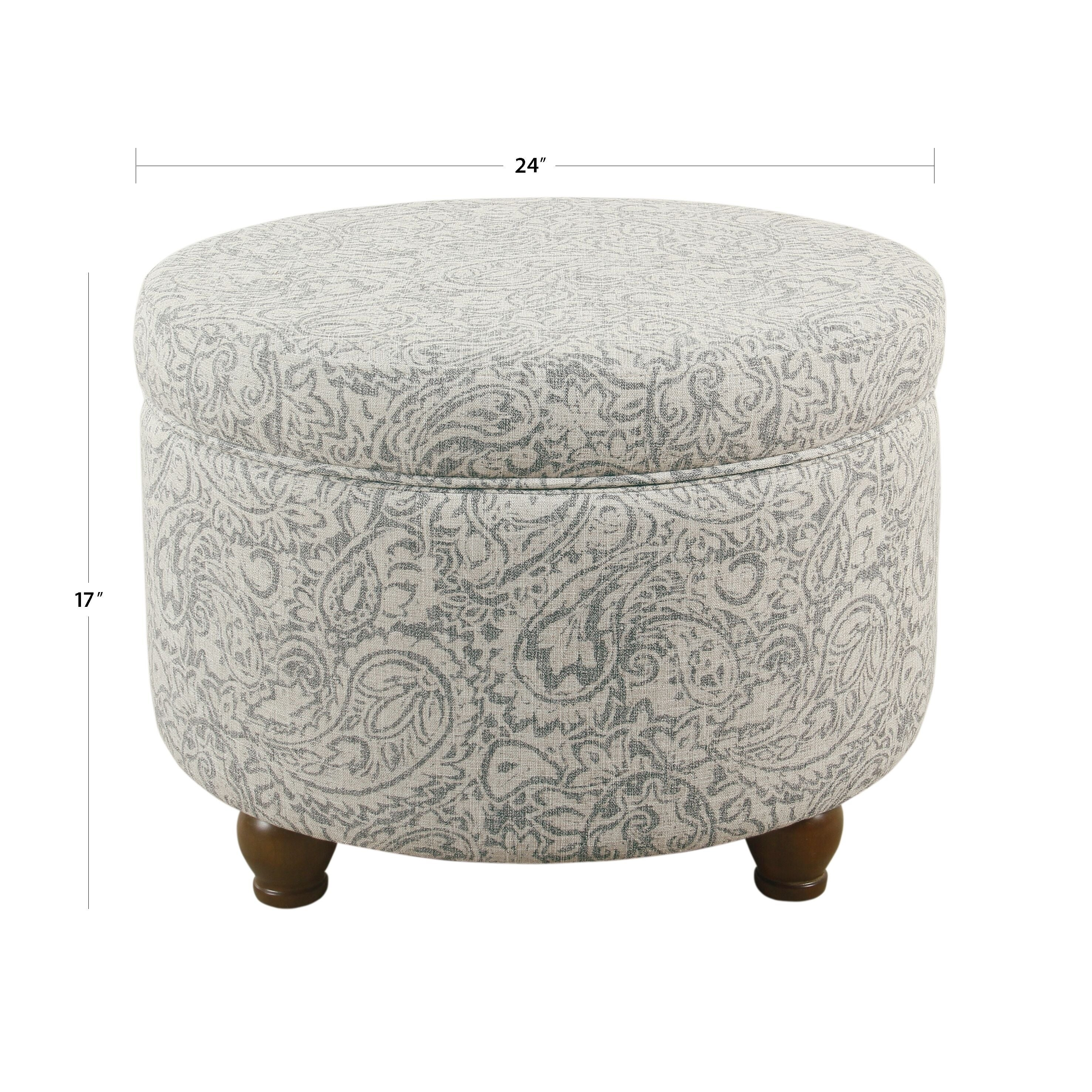 Fabulous The Curated Nomad Hector Grey Floral Storage Ottoman Alphanode Cool Chair Designs And Ideas Alphanodeonline