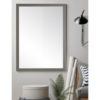 Simply Modern Charcoal Accent Mirror - Black/Grey