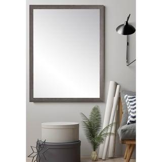 Ash Gray Farmhouse Accent Mirror - Grey/Brown