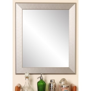 Silver Orchid Rosing Contemporary Silver Pop Accent Mirror