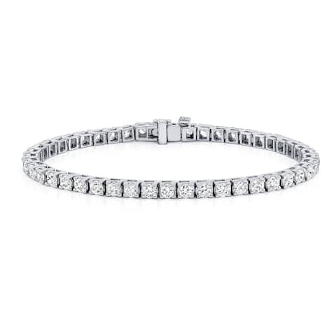 Round 2ctw Lab Grown Diamond Tennis Bracelet 14k Gold by Ethical Sparkle - 7-inch