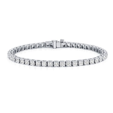 Ethical Sparkle 2ctw Round Lab Created Diamond Tennis Bracelet 14k Gold - 7 Inch