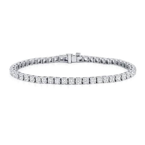 Ethical Sparkle 5ctw Lab Grown Diamond Tennis Bracelet 14k Gold 7-inch
