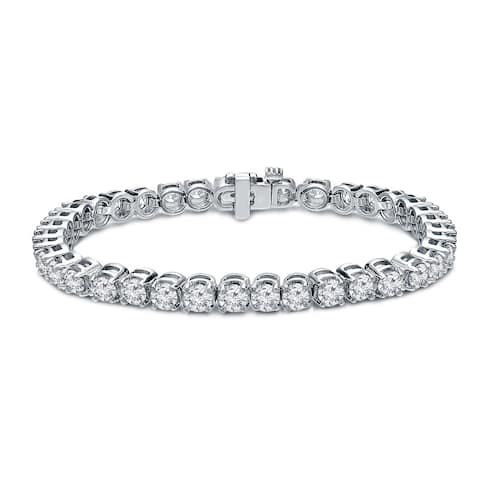Round 8ctw Lab Grown Diamond Tennis Bracelet 14k Gold by Ethical Sparkle - 7-inch