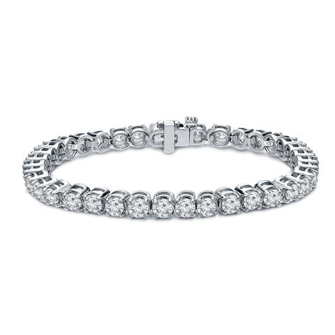Ethical Sparkle 8ctw Round Lab Created Diamond Tennis Bracelet 14k Gold - 7 Inch