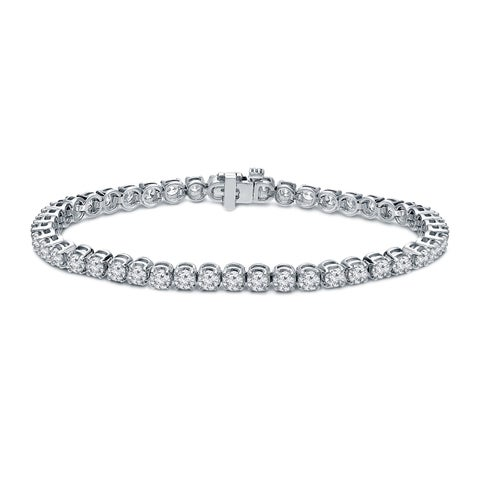 Ethical Sparkle 6ctw Round Lab Created Diamond Tennis Bracelet 14k Gold - 7 Inch