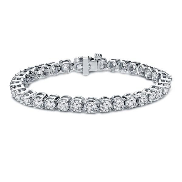 Shop Round 15ct Tw Lab Grown Diamond Tennis Bracelet 14k