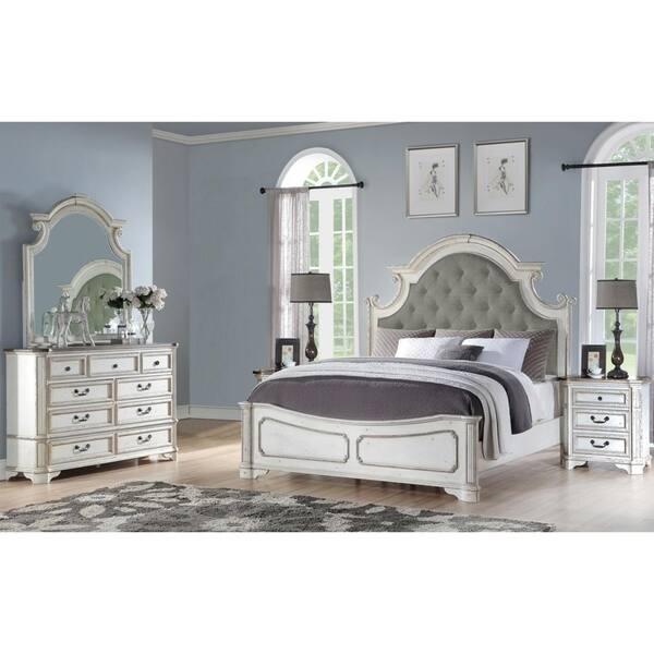 Shop Best Master Furniture 5 Pieces Antique White Panel ...