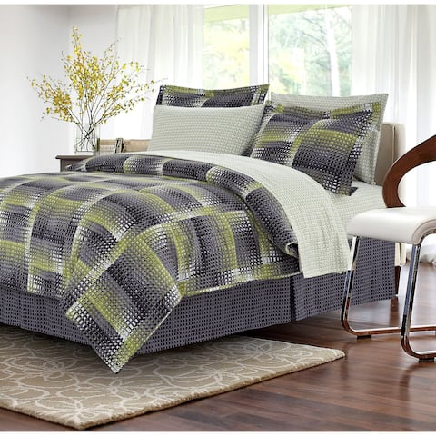 Shadow Box Lime 6-piece Twin Size Bed-in-a-Bag Set (As Is Item)