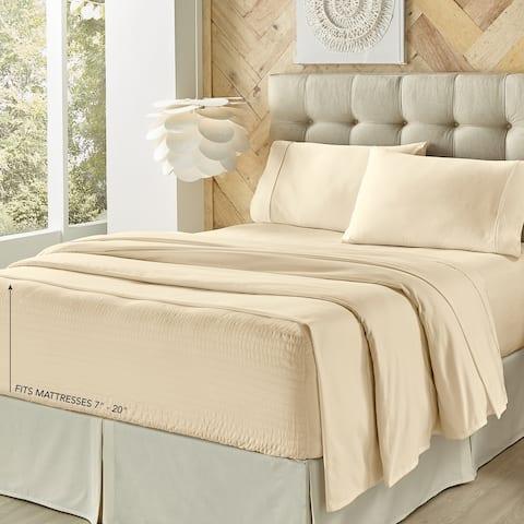 Porch & Den Kalex 300 Thread Count 100-percent Cotton Perfect Fit Sheet Set