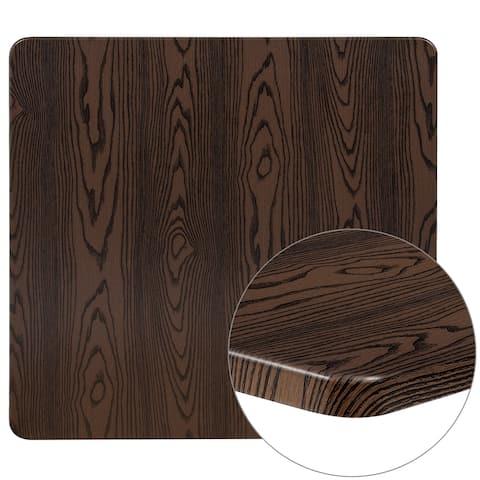 "36"" Square Rustic Wood Laminate Table Top - Restaurant Furniture"