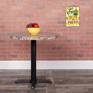 30RD Marble Laminate Table Top - Gray Marble