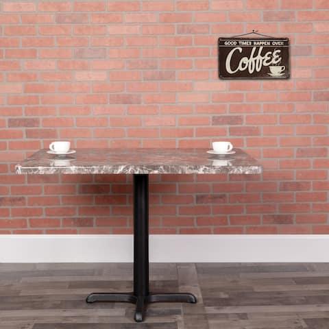 "30"" x 60"" Rectangular Gray Marble Laminate Table Top - Restaurant Furniture - Gray Marble"