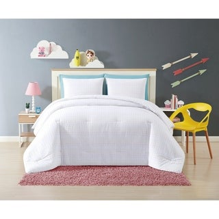 My World Rainbow Clipped Dot 3 Piece Comforter Set
